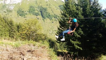 Randonnée en tyroliennes